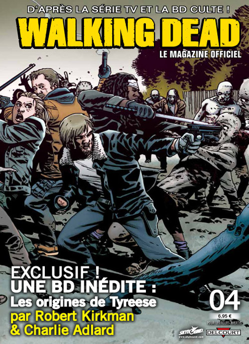 Walking Dead – Le magazine officiel, T4, comics chez Delcourt de Collectif, Kirkman, Adlard