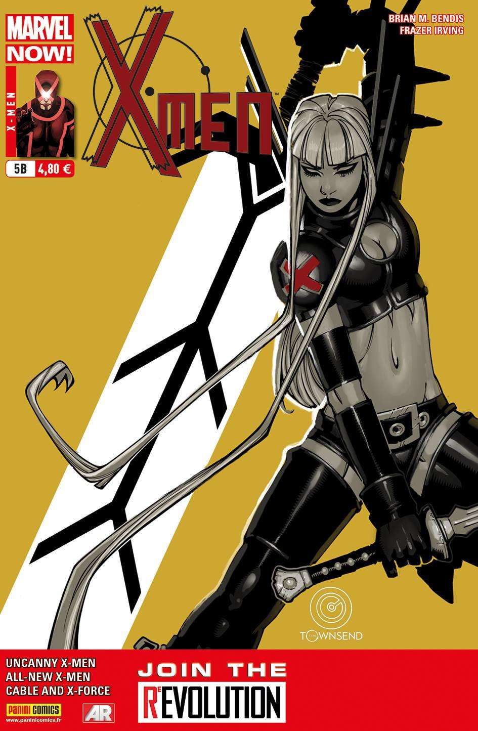 X-Men (revue) – V 4, T5 : Choisis ton camp (0), comics chez Panini Comics de Bendis, Hopeless, Irving, Immonen, Larroca, d' Armata, Gracia, Beredo, Bachalo