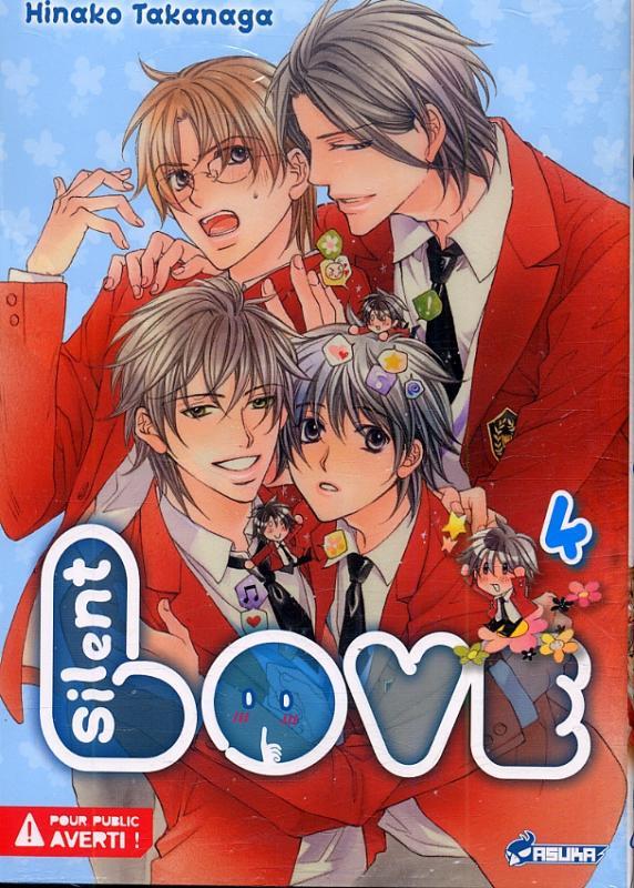 Silent love T4, manga chez Asuka de Takanaga
