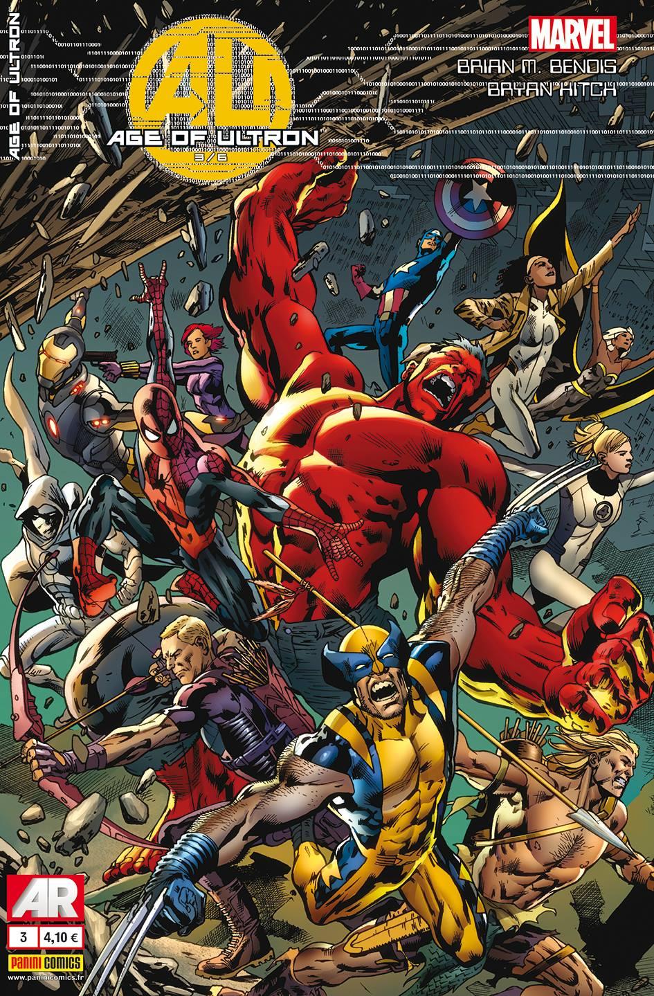 Age of Ultron T3, comics chez Panini Comics de Bendis, Immonem, Hitch, Pinna, Mounts