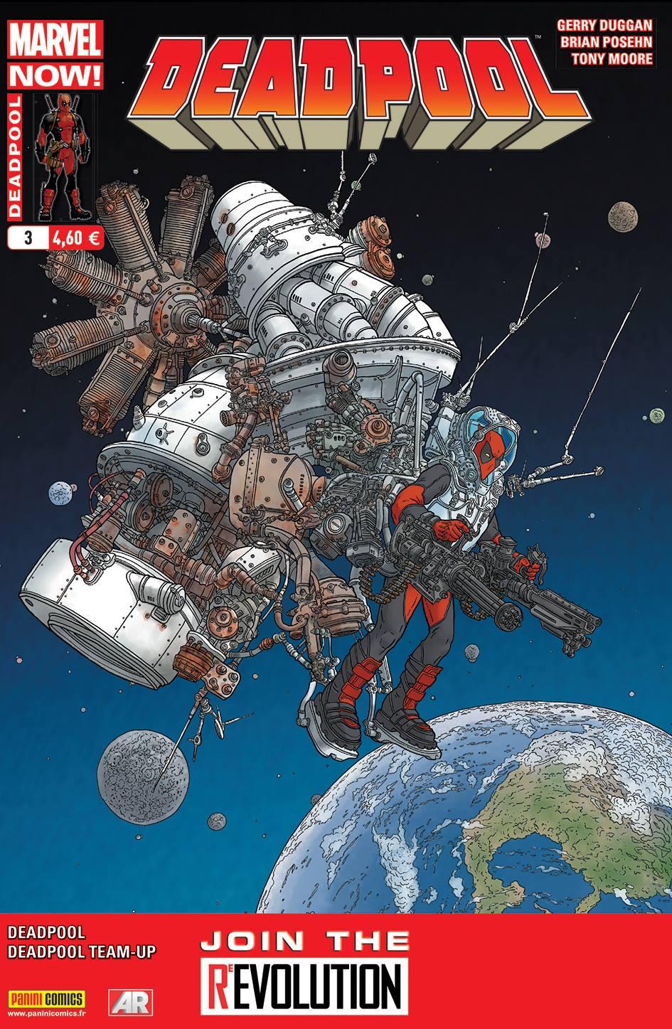 Deadpool (revue) – V 4, T3 : La glaire des étoiles (0), comics chez Panini Comics de Posehn, Duggan, Peyer, Moore, Chabot, Rauch, Staples, Darrow