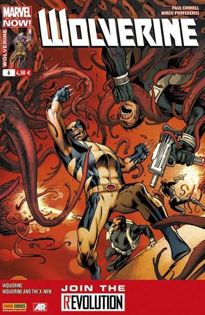 Wolverine (revue) – Revue V 4, T6 : La noyade de Logan (0), comics chez Panini Comics de Aaron, Cornell, Palmer, Pierfederici, Perez, Martin, Mossa, Milla, Davis