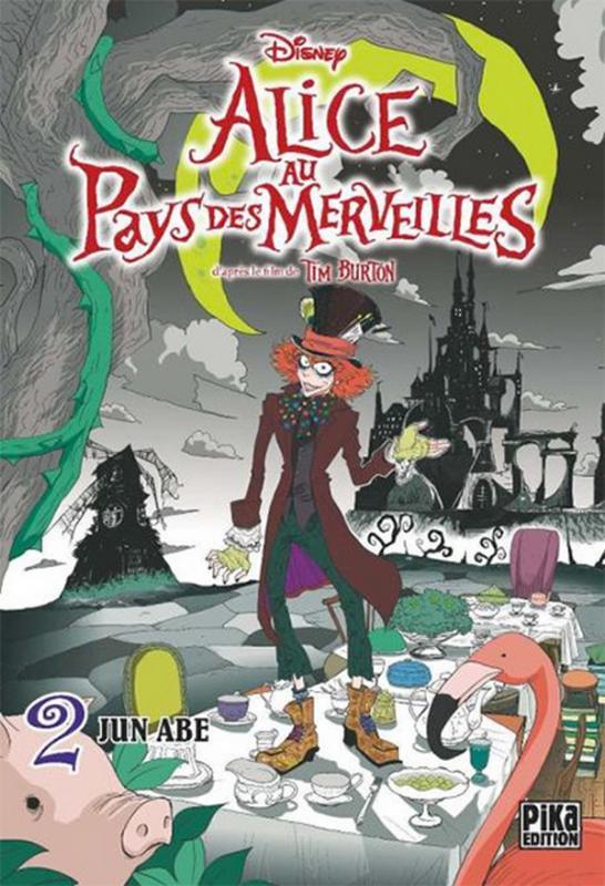 Alice au pays des merveilles  T2, manga chez Pika de Burton, Abe