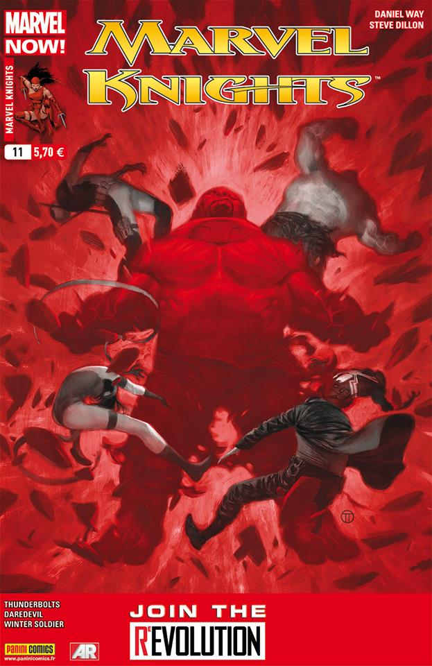 Marvel Knights T11 : Contre-attaque massive (0), comics chez Panini Comics de Waid, Way, Brubaker, Dillon, Samnee, Guice, Rodriguez, Guru efx, Breitweiser, Tedesco