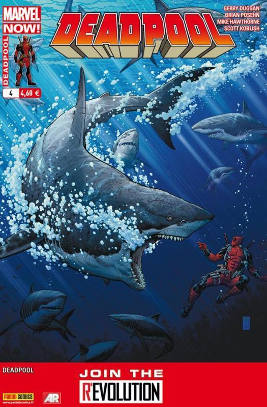 Deadpool (revue) – V 4, T4 : Il y a le diable, le soleil et la mer (0), comics chez Panini Comics de Posehn, Duggan, Koblish, Hawthorne, Staples, Adams