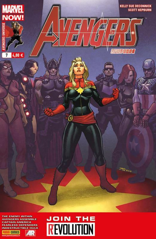 Avengers Universe (revue V1) T7 : L'ennemi intime (1/3) (0), comics chez Panini Comics de Bunn, Waid, Remender, Deconnick, Hepburn, Buffagni, Romita Jr, Sliney, Simonson, Mossa, Wilson, Gandini, Bellaire, White, Quiñones