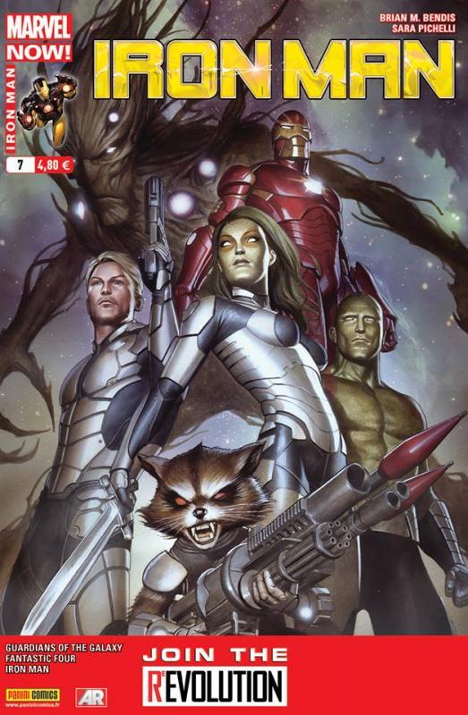 Iron Man (revue) – V 2, T7 : Après l'effort... (0), comics chez Panini Comics de Gillen, Fraction, Bendis, Del Mundo, Bagley, Pichelli, Eaglesham, Mounts, Ponsor, Guru efx, Granov