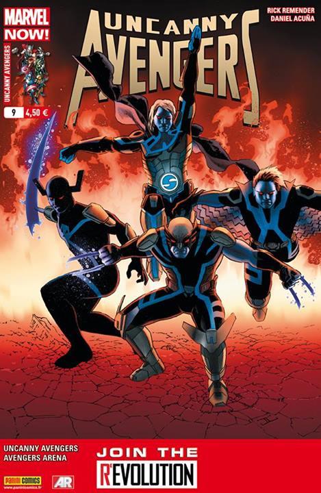 Uncanny Avengers (revue) – V 1, T9 : Le grand jeu (0), comics chez Panini Comics de Remender, Hopeless, Burchielli, Acuña, Beaulieu, Cassaday
