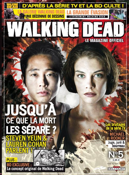 Walking Dead – Le magazine officiel, T5, comics chez Delcourt de Collectif, Kirkman, Moore, Adlard