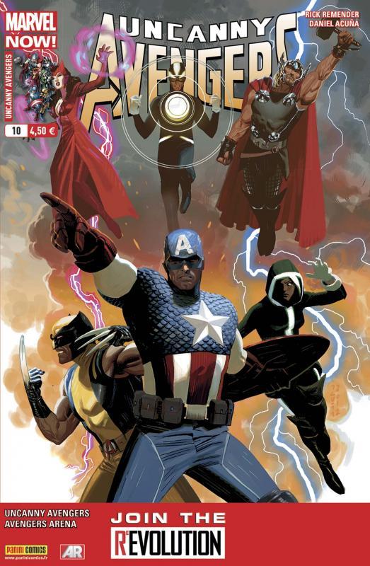 Uncanny Avengers (revue) – V 1, T10 : Fin de round (0), comics chez Panini Comics de Remender, Hopeless, Walker, Burchielli, Acuña, Beaulieu