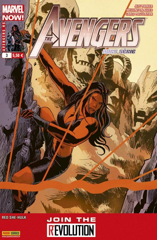 The Avengers (revue) – Hors série, T3 : Route 616 - Miss Hulk Rouge (2/2) (0), comics chez Panini Comics de Parker, Pagulayan, Alves, Oliffe, Height, Bennett, Staples, Major, Francavilla