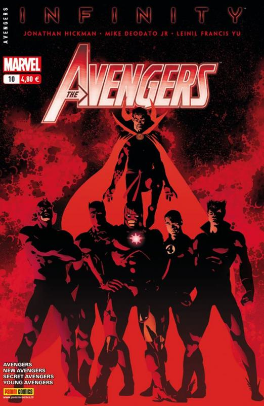 The Avengers (revue) – V 4, T10 : La semence de Thanos (0), comics chez Panini Comics de Hickman, Gillen, Spencer, Maberry, Norton, McKelvie, Yu, Guice, Cariello, Deodato Jr, Sotomayor, Martin jr, Gho, Wilson