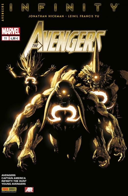 The Avengers (revue) – V 4, T11 : L'offre (0), comics chez Panini Comics de Hickman, Maberry, Gillen, Kindt, Sanders, Yu, Scioli, McKelvie, Wilson, Sotomayor, Norton, Campbell, Alanguilan, Crabtree, Curiel