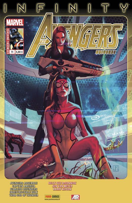 Avengers Universe (revue V1) T11 : Mission de sauvetage (0), comics chez Panini Comics de Waid, Aaron, Van Meter, Deconnick, Romita Jr, Scalera, Ribic, Kitson, Woodard, White, Svorcina, Staples, Molina