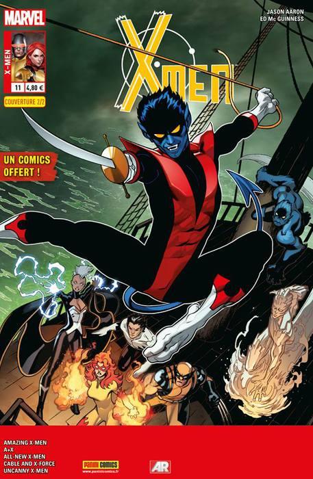 X-Men (revue) – V 4, T11 : A la recherche de Diablo (0), comics chez Panini Comics de Krueger, Aaron, Bendis, Chaykin, Hopeless, Lim, Immonen, Bachalo, Sandoval, McGuinness, Sotomayor, Gracia, Rosenberg, Delgado, Peterson