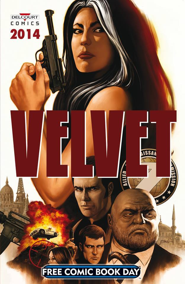 Free Comic Book Day - Delcourt Comics T1 : Velvet (0), comics chez Delcourt de Brubaker, Lefeuvre, Mignola, Allie, Davis, Epting, Breitweiser, Stewart
