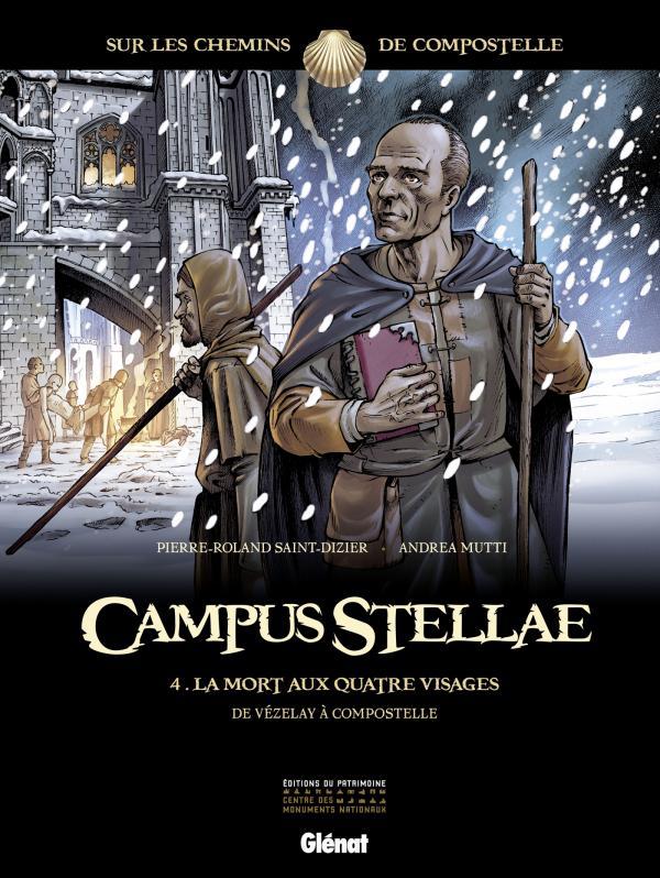 Campus Stellae, sur les chemins de Compostelle T4 : La mort aux quatre visages (0), bd chez Glénat de Saint-Dizier, Mutti, Francescutto