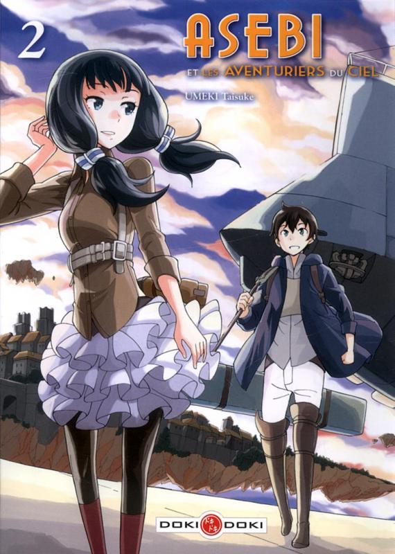 Asebi et les aventuriers du ciel  T2, manga chez Bamboo de Umeki