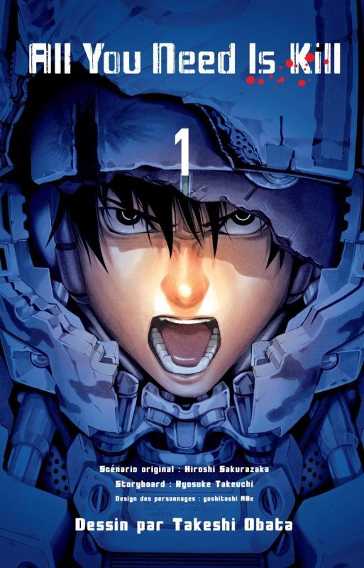 All you need is kill T1, manga chez Kazé manga de Takeuchi, Sakurazaka, Abe, Obata