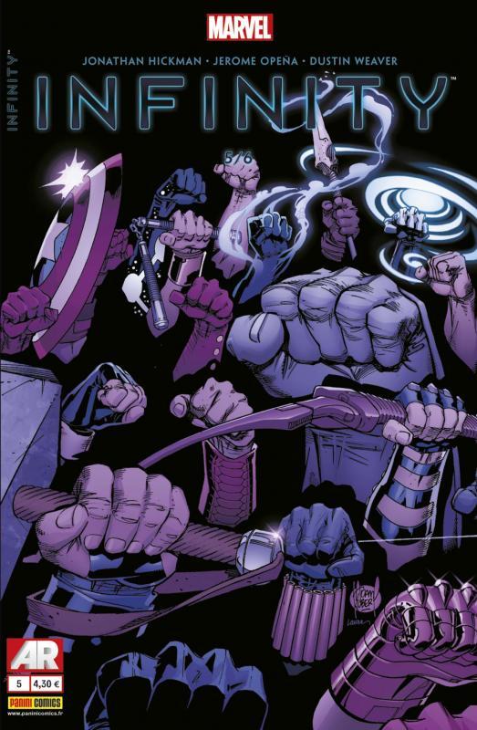 Infinity T5 : Dans la main gauche de la Mort (0), comics chez Panini Comics de Hickman, Opeña, Weaver, Ponsor, Kubert