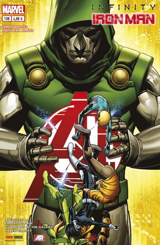 Iron Man (revue) – V 2, T13 : A tombeau ouvert (0), comics chez Panini Comics de Humphries, Kesel, Warren, Fraction, Bendis, Francavilla, Ienco, Araujo, Denham, Mounts, Guru efx, d' Armata, Mckone