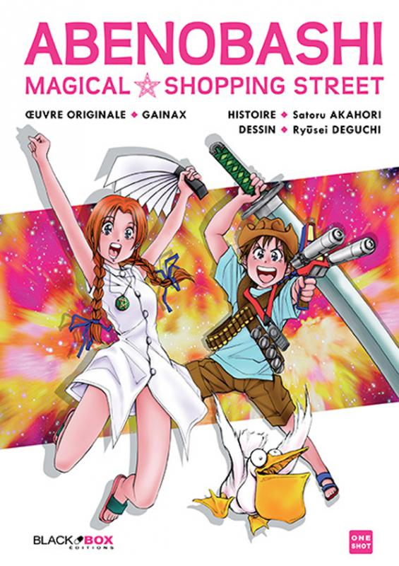Abenobashi Magical shopping street , manga chez Black Box de Gainax, Akahori, Deguchi