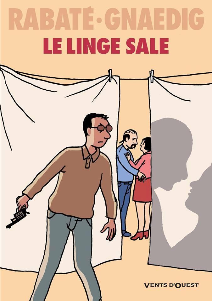 Le Linge sale, bd chez Vents d'Ouest de Rabaté, Gnaedig