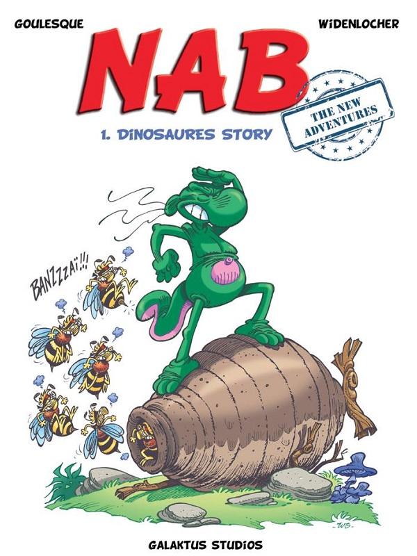 Nab T1 : Dinosaures story (0), bd chez Galaktus Studios de Widenlocher, Goulesque, Federico