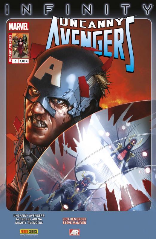 Uncanny Avengers (revue) – V 2, T3 : Ravissement (0), comics chez Panini Comics de Remender, Ewing, Hopeless, Walker, McNiven, Land, Beaulieu, Martin, d' Armata