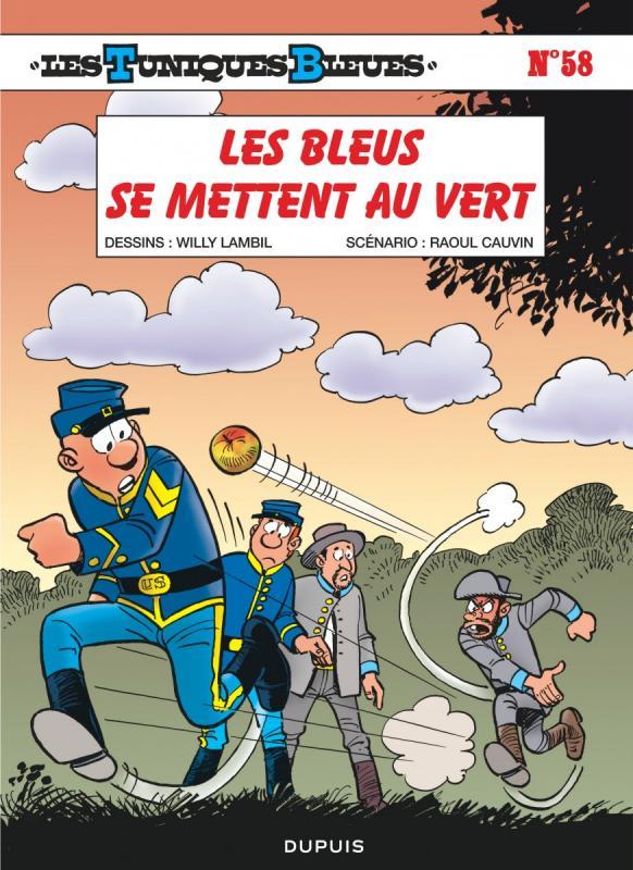 Les Tuniques bleues T58 : Les tuniques bleues se mettent au vert (0), bd chez Dupuis de Cauvin, Lambil, Léonardo