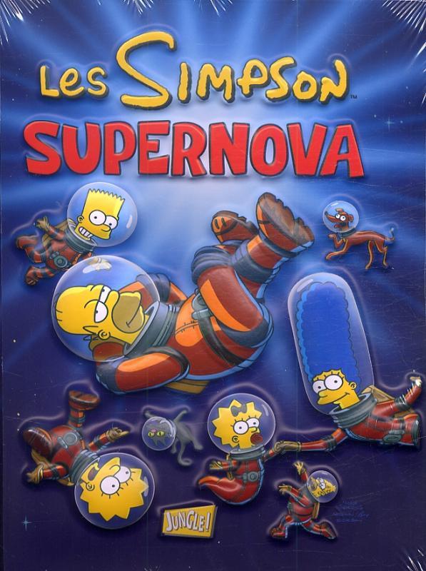 Les Simpson T25 : Supernova (0), comics chez Jungle de Delegeane, Groening, Boothby, Dorkin, Delaney, Ho, Costanza, Stanley, Villanueva, Cristescu