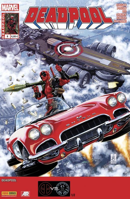 Deadpool (revue) – V 4, T8 : Deadpool contre le S.H.I.E.L.D. (1/2) (0), comics chez Panini Comics de Duggan, Posehn, Hawthorne, Shalvey, Bellaire, Brooks