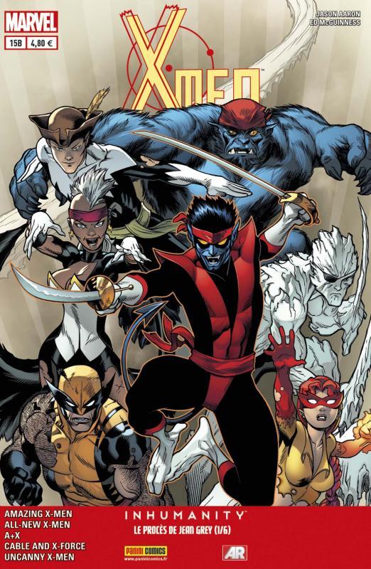 X-Men (revue) – V 4, T15 : Le procès de Jean Grey (1/6) (0), comics chez Panini Comics de Duggan, Bendis, Aaron, Hopeless, Yardin, Unzueta, Anka, McGuinness, Immonen, Mossa, Rosenberg, Gracia, Beredo