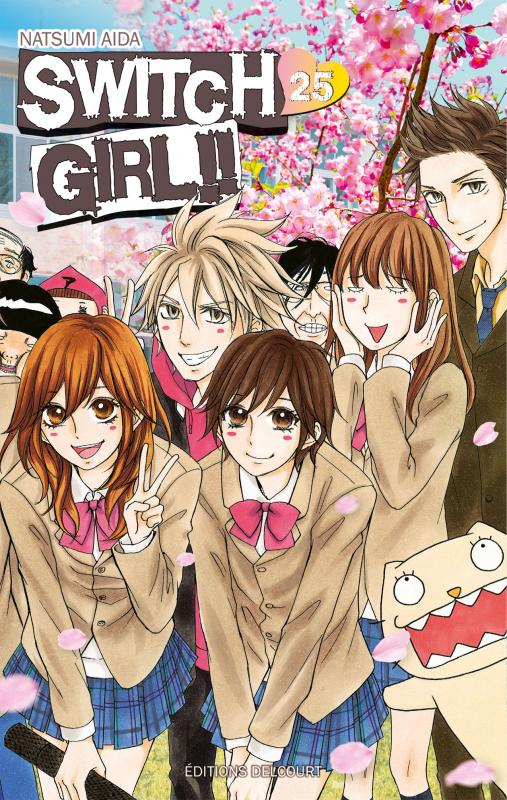 Switch girl  T25, manga chez Delcourt de Aida
