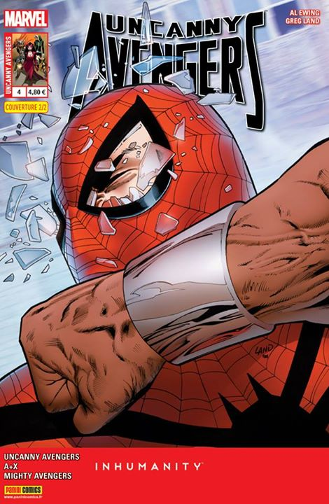 Uncanny Avengers (revue) – V 2, T4 : Au cœur d'Attilan (0), comics chez Panini Comics de Krueger, Ryan, Remender, Ewing, McNiven, Land, Sliney, Parlov, Mossa, d' Armata, Gandini