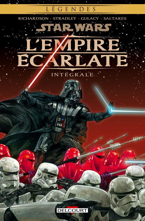 Star Wars - L'Empire écarlate, comics chez Delcourt de Stradley, Richardson, Saltares, Gulacy, Russel, Brandt, Stamp, Digital broome, Stewart, Bartolo, Dorman