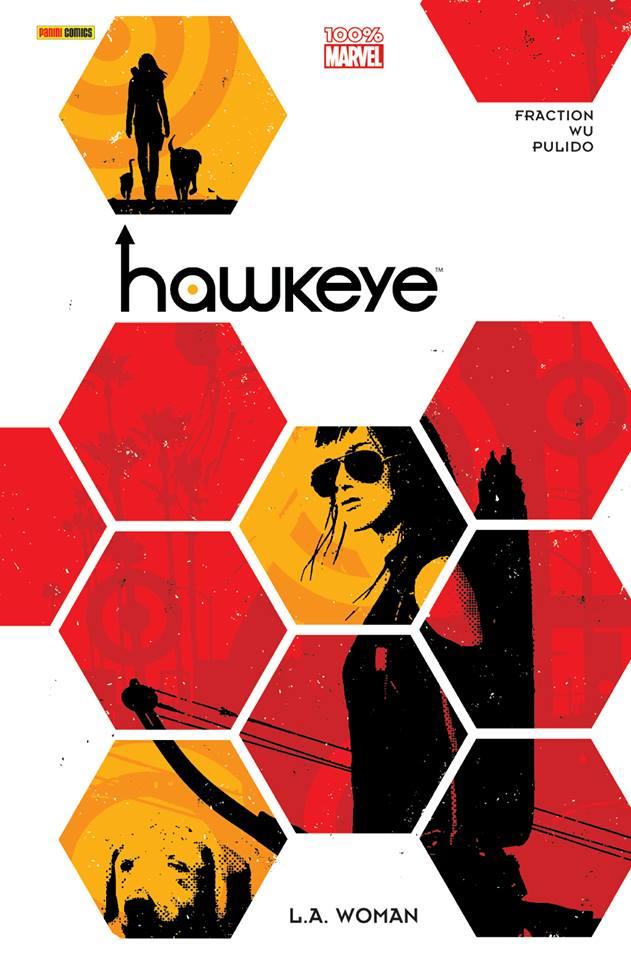 Hawkeye T3 : L.A. Woman (0), comics chez Panini Comics de Fraction, Pulido, Wu, Hollingsworth, Aja