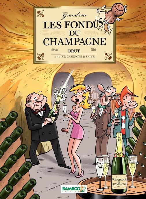 Les Fondus du vin T4 : Les fondus du Champagne (0), bd chez Bamboo de Cazenove, Richez, Saive