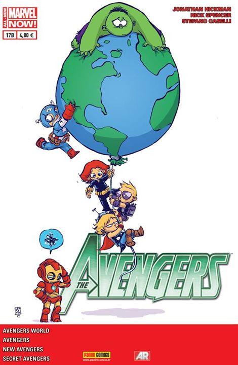 The Avengers (revue) – V 4, T17 : Pas loin... A six pieds sous terre (0), comics chez Panini Comics de Hickman, Kot, Spencer, Larroca, Guice, Caselli, Bianchi, Martin jr, Mossa, Dell'Alpi, Wilson, Young