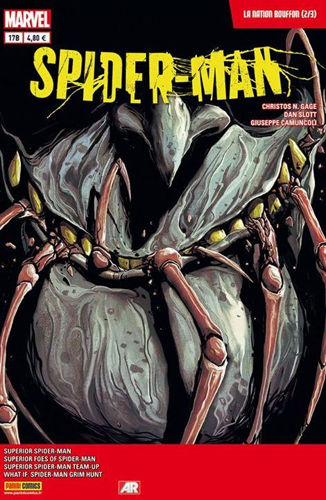 Spider-Man (revue) – V 4, T17 : La nation Bouffon (2/3) (0), comics chez Panini Comics de Gage, Slott, Dell, Camuncoli, Fabela, Delmundo