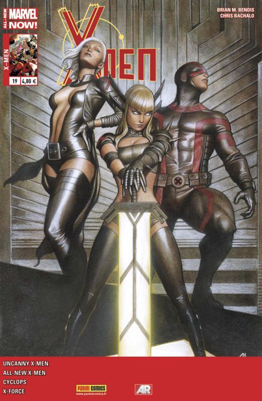 X-Men (revue) – V 4, T19 : Un de moins (0), comics chez Panini Comics de Bendis, Rucka, Spurrier, Kim, Bachalo, Immonen, Dauterman, Sotomayor, Gracia, Granov