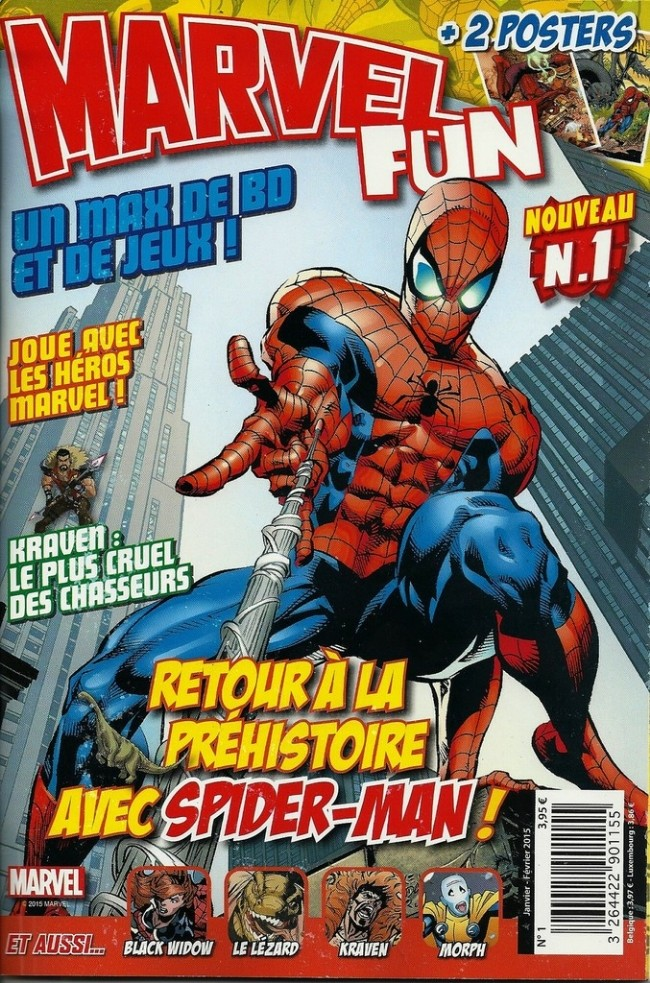 Marvel Fun T1 : Retour à la préhistoire avec Spider-Man ! (0), comics chez Panini Comics de Handley, Gray, Erskine, Townsend, Royle, Ross, Gomez, Offredi