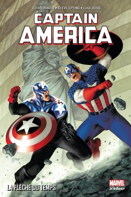 Captain America T5 : La flèche du temps (0), comics chez Panini Comics de Brubaker, Epting, Ross, Guice, De La Torre, d' Armata