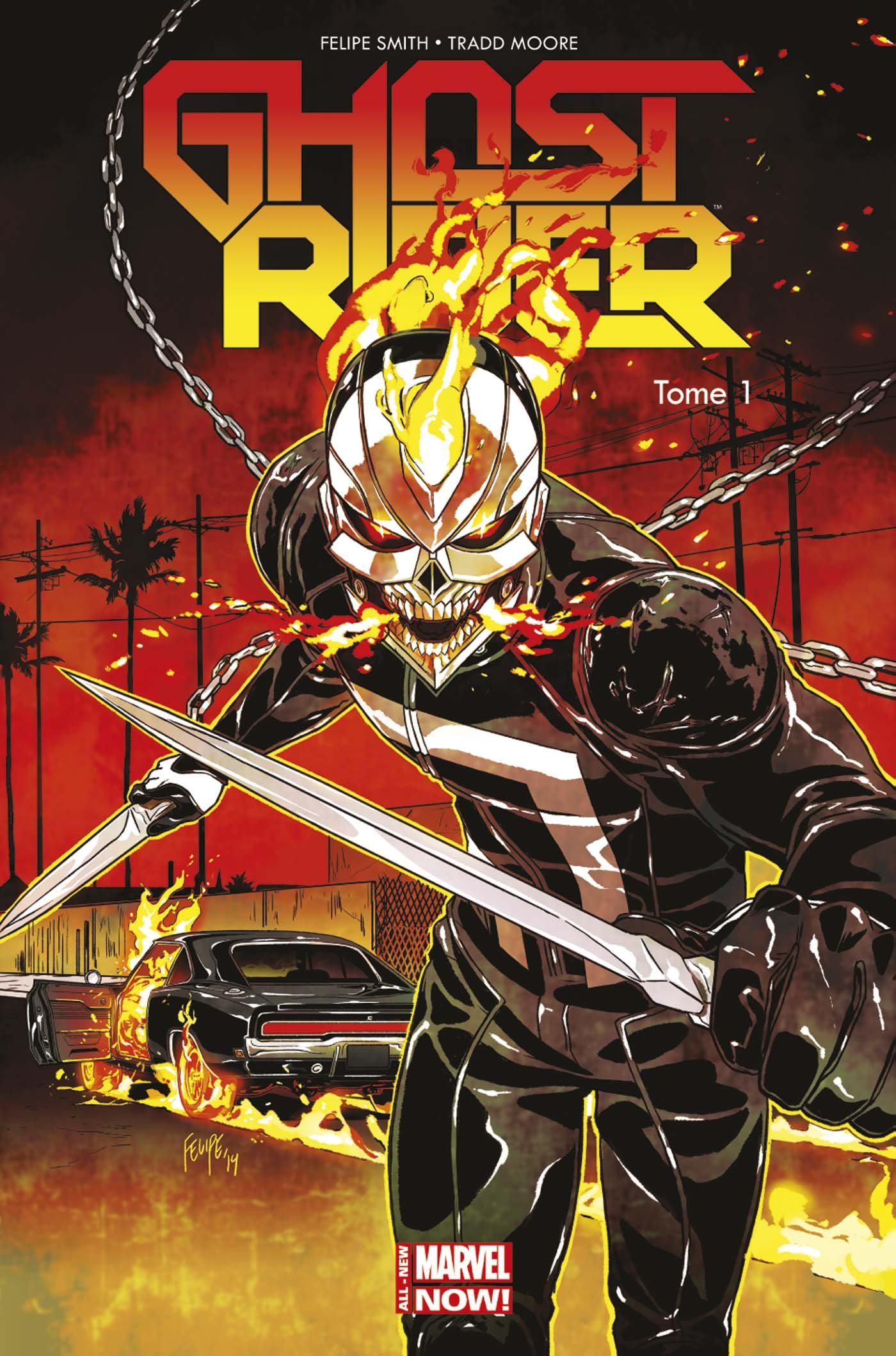 Ghost Rider T1 : Vengeance mécanique (0), comics chez Panini Comics de Smith, Moore, Sanz, Staples, Daniel