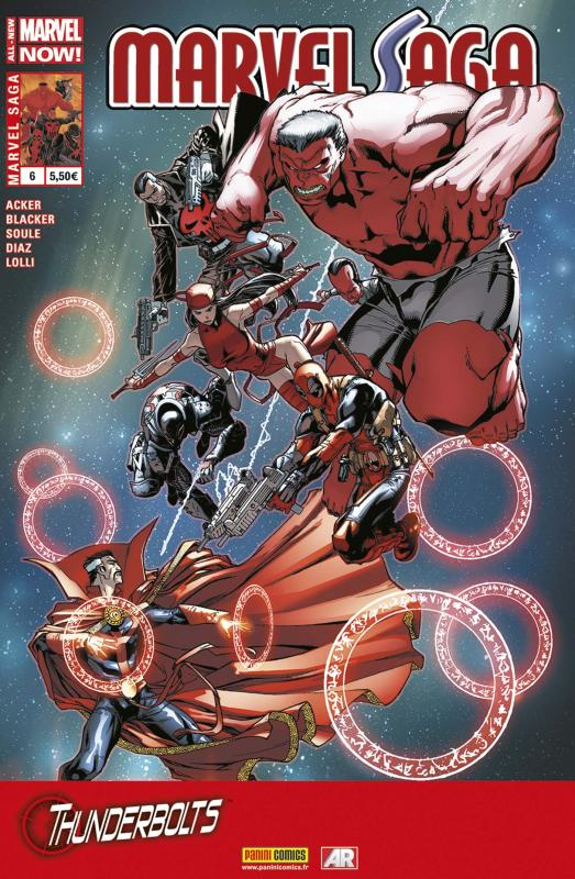 Marvel Saga – V 2, T6 : Thunderbolts - Expédition en eaux troubles (0), comics chez Panini Comics de Acker, Soule, Blacker, Diaz, Lolli, Silva, Campbell, Barberi