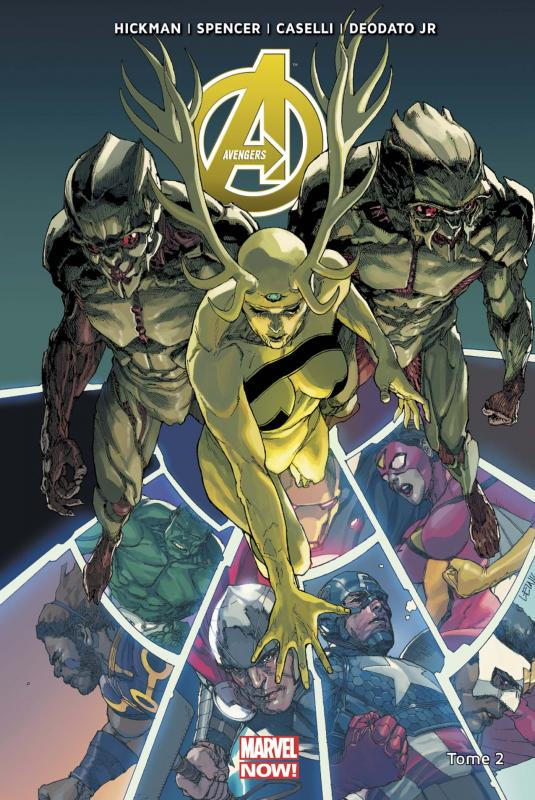 The Avengers (vol.5) T3 : Prélude à Infinity (0), comics chez Panini Comics de Spencer, Hickman, Deodato Jr, Checchetto, Caselli, Rudy, Delgado, Martin jr, Yu