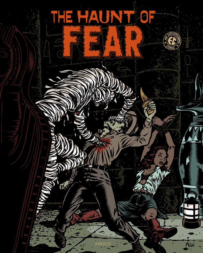 The Haunt of Fear T1, comics chez Akileos de Klapper, Gaines, Feldstein, Craig, Fox, Harrison, Ingels, Davis, Kurtzmann, Kamen, Wood, Mezzo