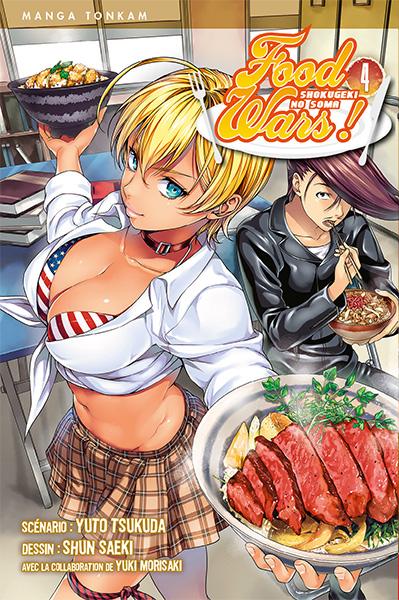 Food wars  T4, manga chez Tonkam de Tsukuda, Saeki