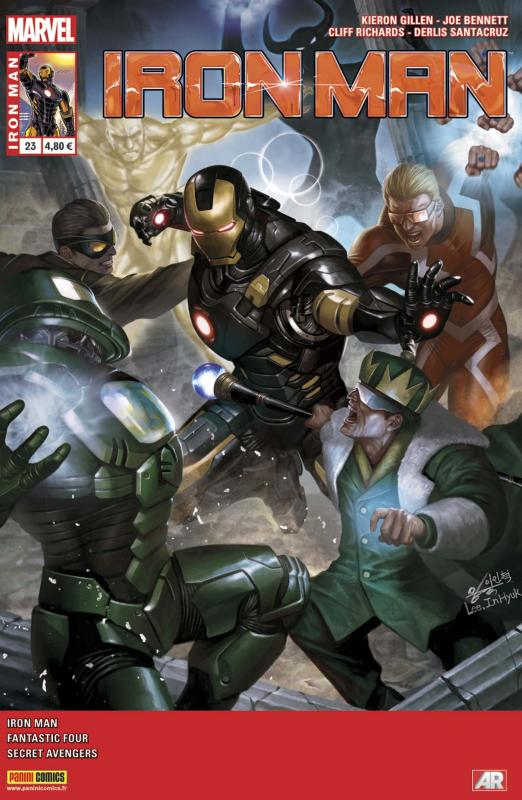 Iron Man (revue) – V 2, T23 : Le train ne s'arrêtera pas (0), comics chez Panini Comics de Gillen, Kot, Moore, Bennett, Santacruz, Walsh, Richards, Wilson, Guru efx, Lee