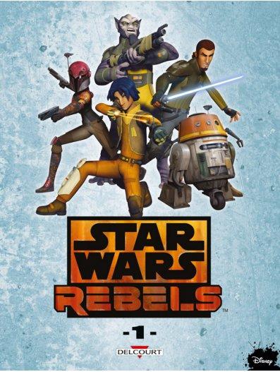 Star Wars Rebels T1, comics chez Delcourt de Fisher, Moleworth, Romling